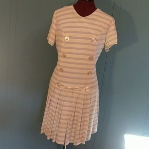 Vintage blue and white striped sailor dress